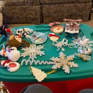 Other - Lot of snowman white and silver ornaments 18 total